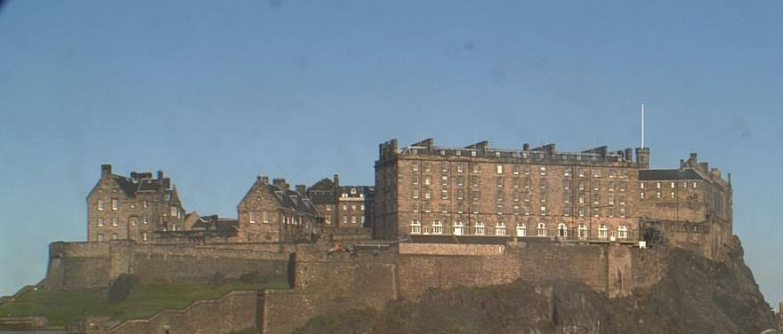 Edinburgh Castle - sitting high above the city skyline